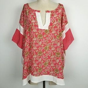 Sundance 100% Silk Paisley Kimono Blouse